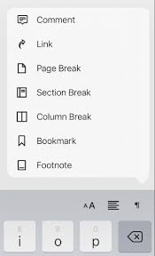Pages for iPad: Add line, page, and column breaks in a Pages document