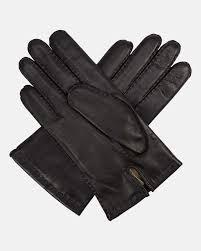 chelsea mens leather gloves in black