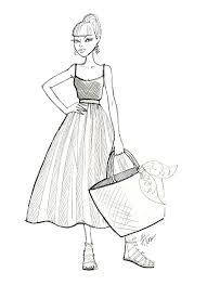 Maxi Dress Drawing At Paintingvalleycom Explore Collection Of