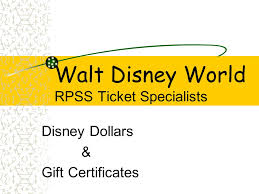 walt disney world rpss ticket specialists