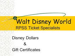 walt disney world rpss ticket specialists