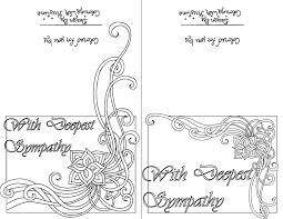 Color Your Own Sympathy Card Sets