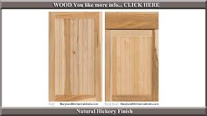 644 natural hickory finish cabinet door style