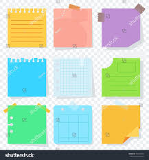 Bright Square Colored Sheets Paper Notice Stock Illustration