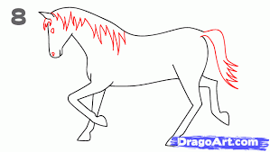 Small Picture How to draw a Horse Step by Step Animals For Kids For Kids