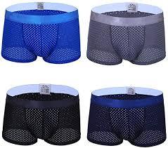 FLX·HR Men's <b>Underwear ice Silk</b> mesh <b>Shorts Summer</b> Thin Thin ...