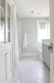 bathroom floor tiles honeycomb. Small Marble Hexagon Tiles On The Floor Bathroom Honeycomb