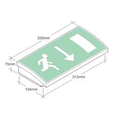 mezzolite led exit sign emergency lighting products mezzolite emergency lighting exit sign iso format mezzolite dimensions