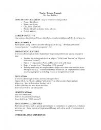 4 Resume Samples For Teachers Manager Template Australia Cv
