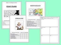 aqa a level psychology essay planning revision booklets paper  aqa a level psychology paper 2 essay planning revision booklet approaches and biopsychology