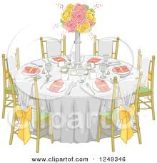 round table and chairs clipart. table clipart #262 round and chairs