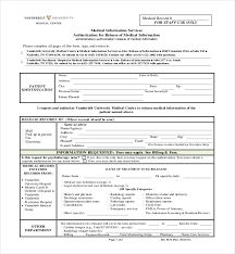 Sample Of Medical Records Free 19 Sample Medical Records Release Forms Pdf