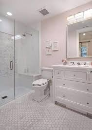 hex tile bathroom floor elegant small tiles white cabinet with glass knobs and hexagon fresh how grey subway tiles and hex