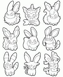 Pokemon Coloring Pages Eevee Evolutions High