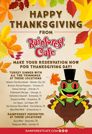 thanksgiving at rainforest cafe