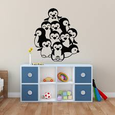 group of penguin s wall decal
