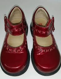Ruby Red Elefanten Mary Janes Little Girls Sz 8 Ruby