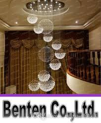big chandelier lighting modern big hall chandelier lighting crystal ball hanging lamp hotel small foyer table
