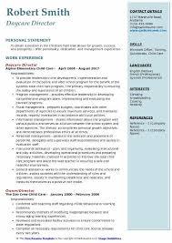 Daycare Director Resumes Daycare Director Resume Samples Qwikresume