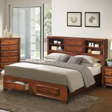 king platform bed with storage drawers. Asger Antique Oak Wood King-size Storage Platform Bed King With Drawers N