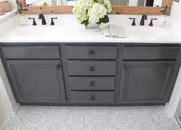 How To Refinish Bathroom Cabinets Diy Domestic Blonde