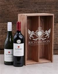 gifts personalised coat of arms wine crate