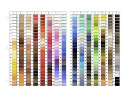Gutermann Colour Chart Sewing Chart Color