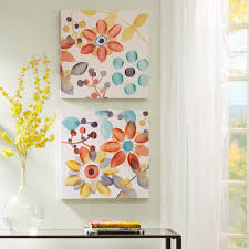 amazon sweet florals canvas with hand embellishment 2 piece set multi wall art on 2 pc canvas wall art with amazon sweet florals canvas with hand embellishment 2 piece set