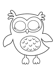 Small Picture Sleepy Owl coloring page Free Printable Coloring Pages