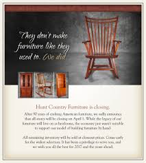 Hunt Furniture Closing