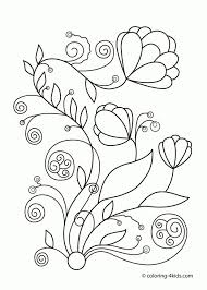 Adult Spring Coloring Pages Printable Coloring Pages Spring Free