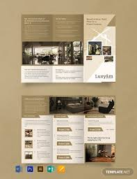 Hotel Brochure Designs Free Hotel Tri Fold Brochure Template Word Psd