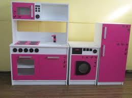 Mueble Cocina Infantil Juego Infantil Madera+heladera+lavarr