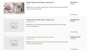source com au scoopla life people are trying to the 200 aldi rocking chair on gumtree for 500