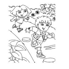 Leuk Voor Kids Go Diego Go Kleurplaten