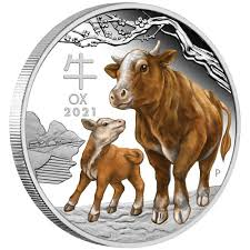 Oxen are used in some countries for pulling. Australian Lunar Series Iii 2021 Year Of The Ox 1oz Silver Proof Coloured Coin The Perth Mint