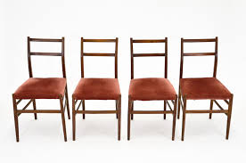 mid century leggera chairs by gio ponti for cassina set of 4