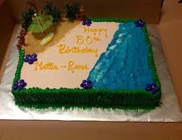 Luau themed 1 2 sheet cake Yelp
