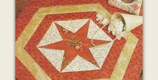 An Easy Versatile Table Mat for Any Time of Year - Quilting Digest & Hexagon Star Table Mat Pattern Adamdwight.com