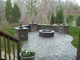 paver patio with fire pit. Interesting Fire Paver Patio Sitting Wall Fire Pit Walkway Columns Steps With Patio Pit F