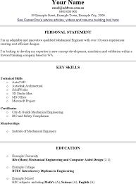 Mechanical Engineering Resume Templates Sample Mechanical
