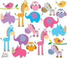 zoo animal clipart cute. Beautiful Zoo Animals Clip Art Cute Little Baby By MayPLDigitalArt 990 In Zoo Animal Clipart