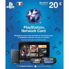 amp; - 20€ Prix Achat Jeux Accessoire De Console Carte Fnac Playstation Network