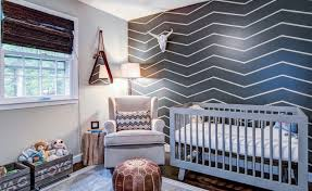 bold graphic wall on nursery ideas wall art with baby nursery ideas that design conscious adults will love