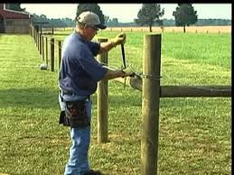 Barbed wire fence cattle Building How To Install Barbed Wire Youtube How To Install Barbed Wire Youtube