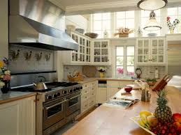 Kitchen:Country Kitchen With Shabby Chic Decor Also High Window Ceiling  Country Kitchen With Shabby