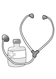 Kleurplaat Medicijn En Stethoscoop Afb 22374