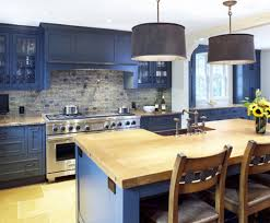 Kitchen Cabinet Wood Choices Blue Kitchen Cabinets With Wood Countertops Google Search