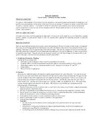 Example Profile For Resumes Profile In Resume Example Englishor Com