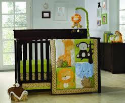 ... Fair Image Of Baby Nursery Room Decoration With Jungle Themed Baby  Bedding : Engaging Unisex Baby ...